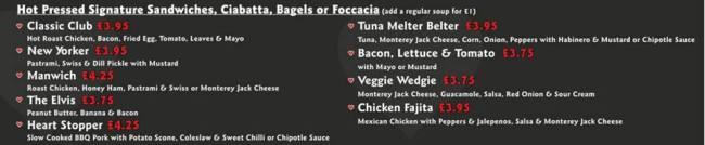 Nics nyc deli menu