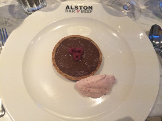 Alston Bar & Beef chocolate tart