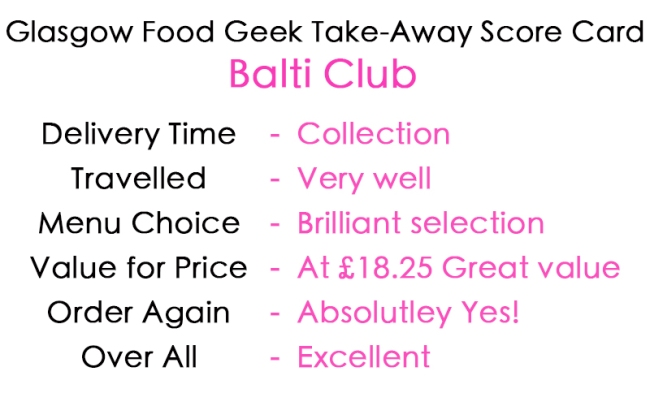 Balti Club review card Card