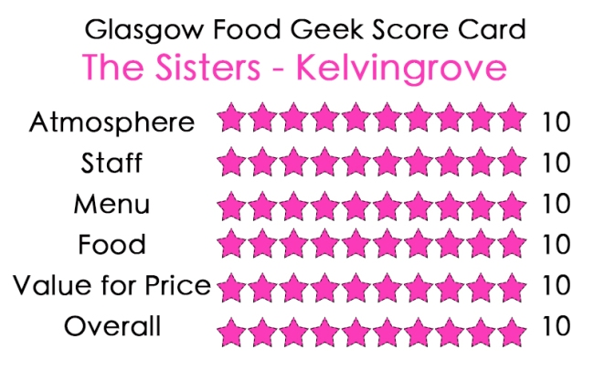 The Sisters Glasgow Food Geek