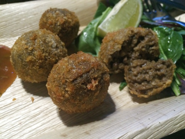 Haggis Fritters The Rum Shack April 2015