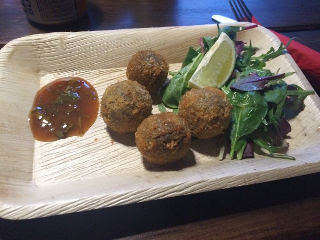Haggis starter The Rum Shack April 2015