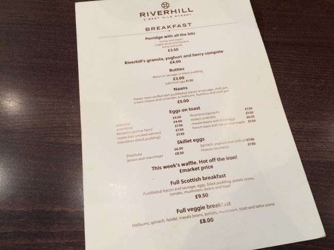 Menu Riverhill June15