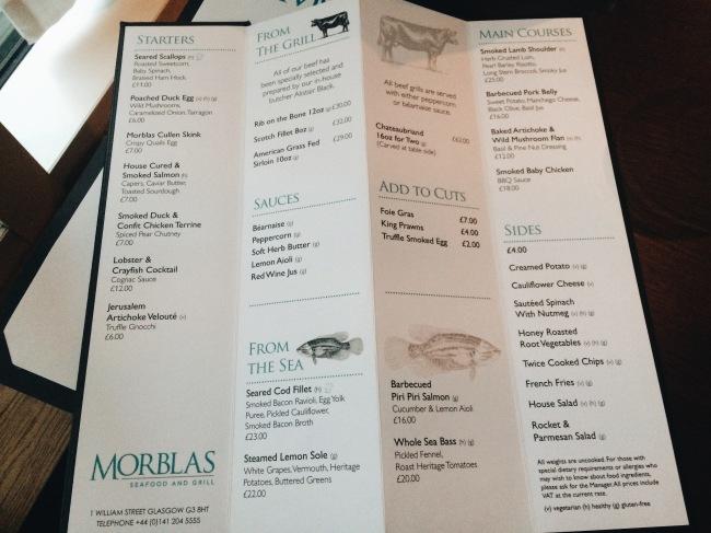 Morblas Restaurant Glasgow Hilton