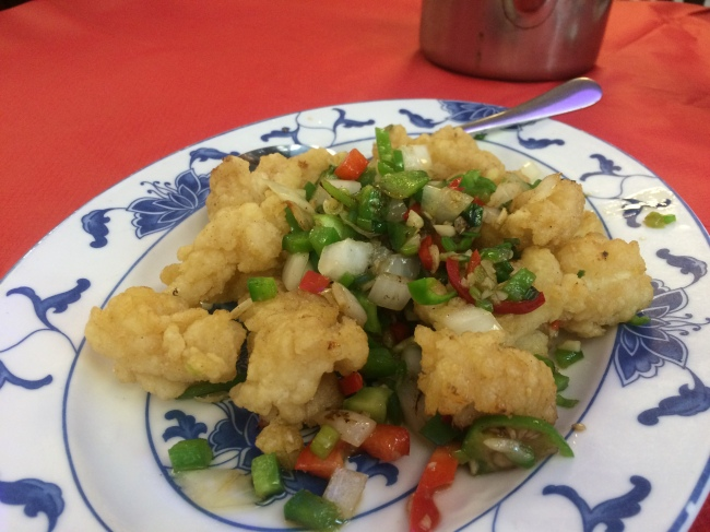 Salt and chilli squid - Asian Gourmet July 2015