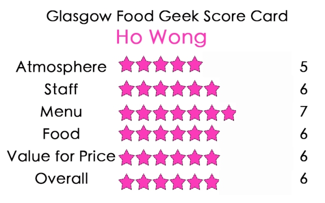 Ho Wong glasgow food geek